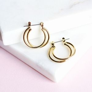 Vintage Double Hoops with Click Back Closure